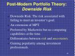 post modern portfolio theory downside risk