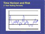 time horizon and risk 1 year rolling periods