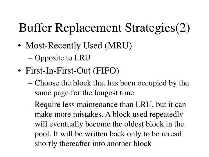 Buffer Replacement Strategies(2)