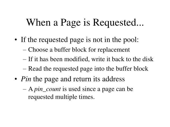 When a page is requested
