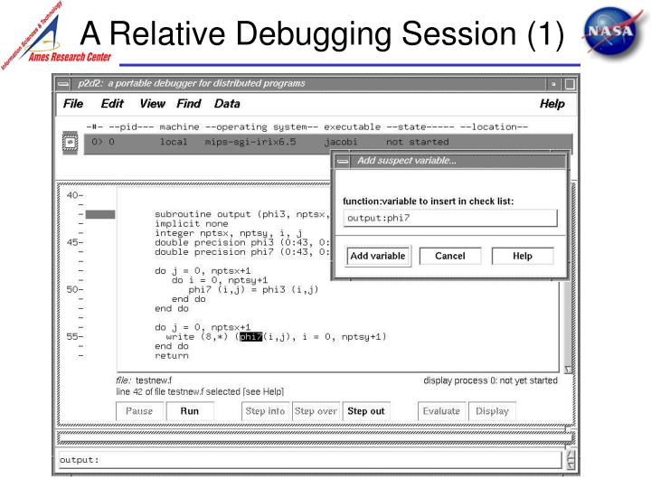 A Relative Debugging Session (1)