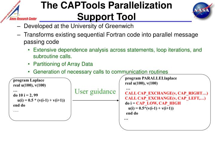 The captools parallelization support tool