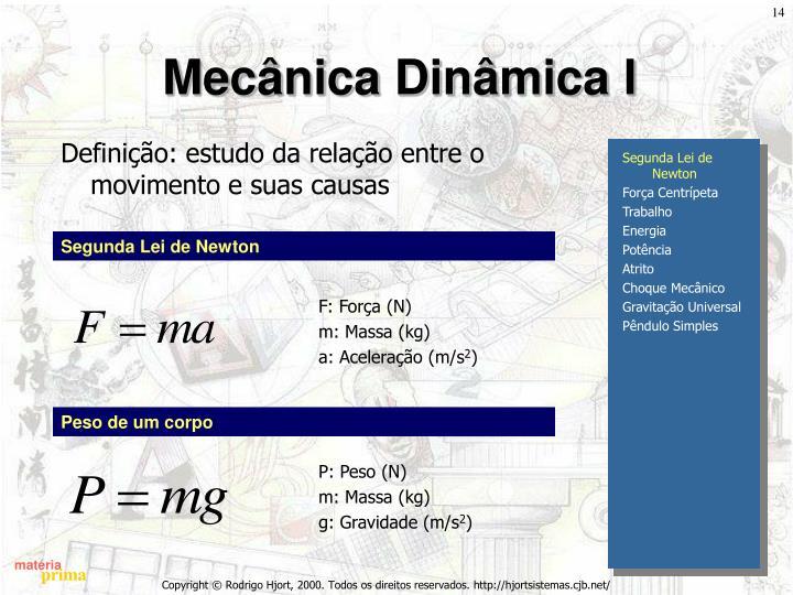 Mecânica Dinâmica I