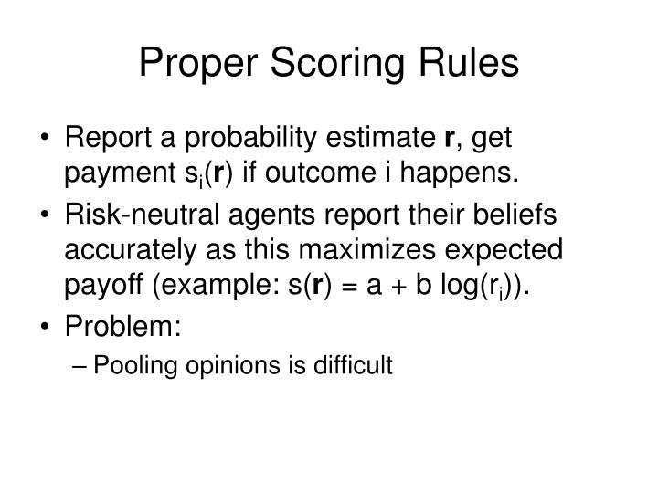 Proper scoring rules