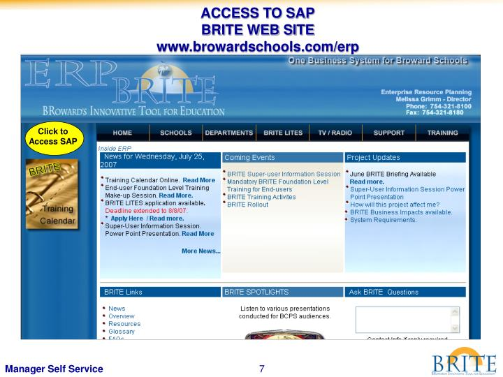 ACCESS TO SAP