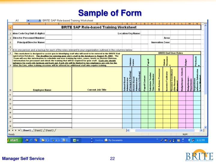 Sample of Form