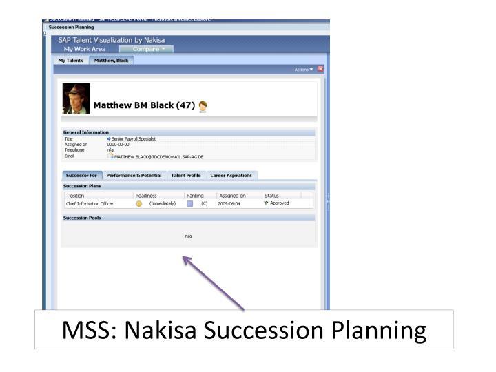 MSS: Nakisa Succession Planning