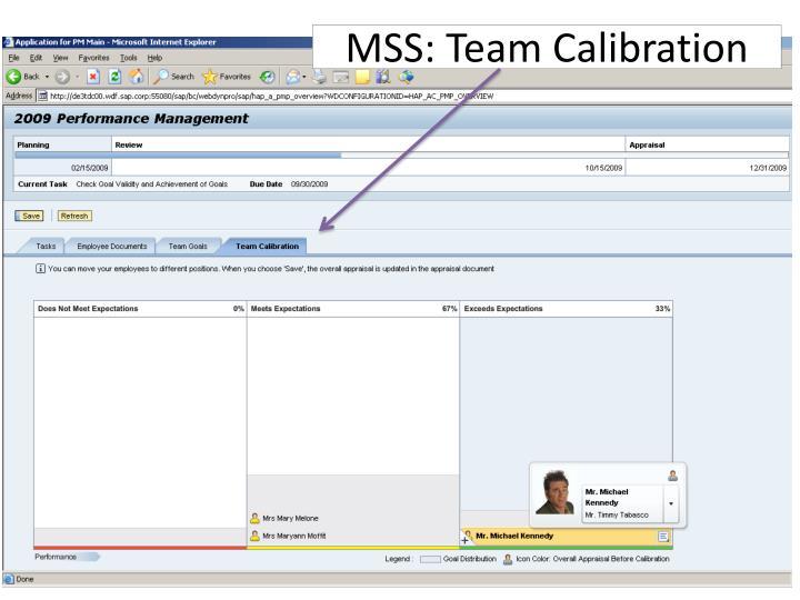 MSS: Team Calibration