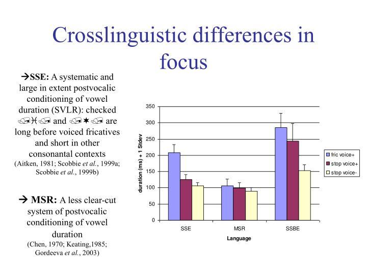 Crosslinguistic differences in focus