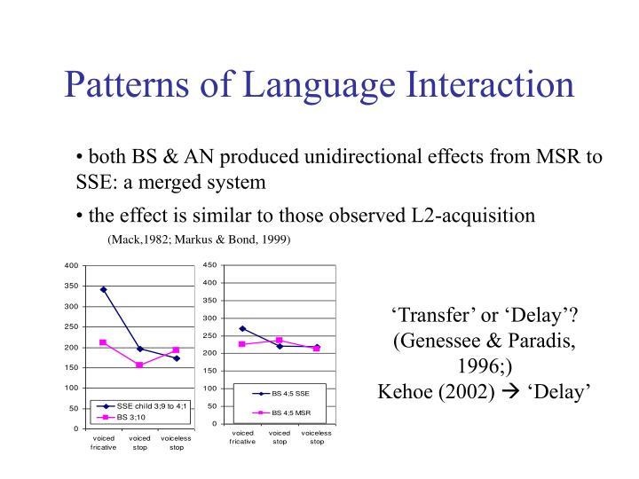 Patterns of Language Interaction