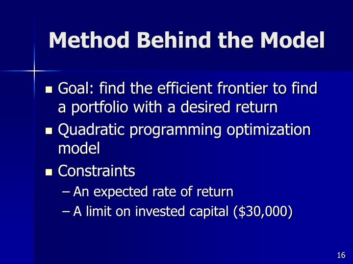 Method Behind the Model