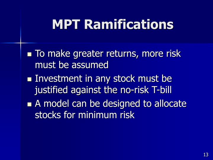 MPT Ramifications