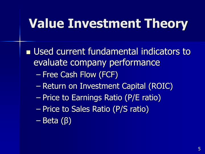 Value Investment Theory