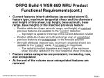 orpg build 4 wsr 88d mru product functional requirements cont