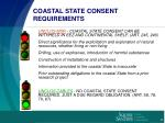 coastal state consent requirements
