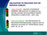 obligation to recover out of service cables