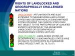 rights of landlocked and geographically challenged nations