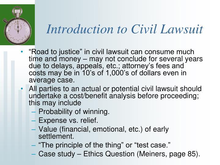 Introduction to Civil Lawsuit