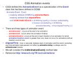 css animation events