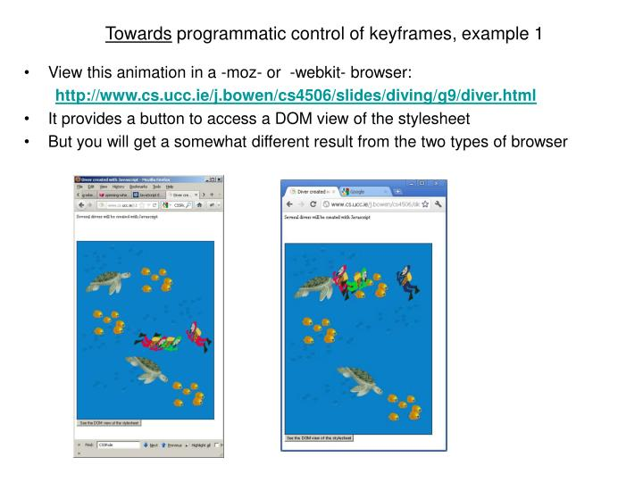 towards programmatic control of keyframes example 1 n.