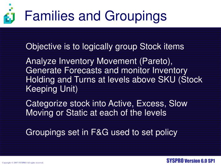Families and Groupings
