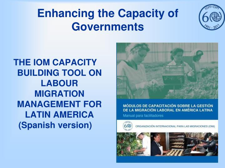 Enhancing the Capacity of Governments