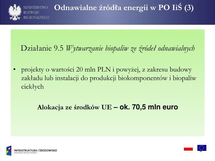 Odnawialne źródła energii w PO IiŚ (3)