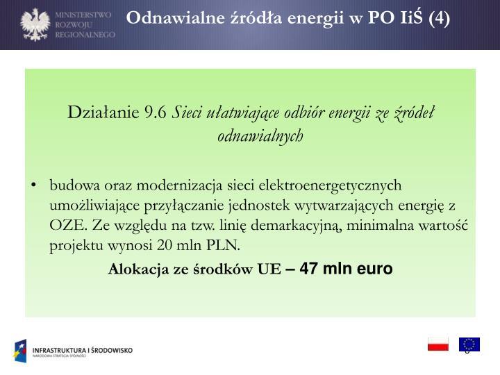 Odnawialne źródła energii w PO IiŚ (4)