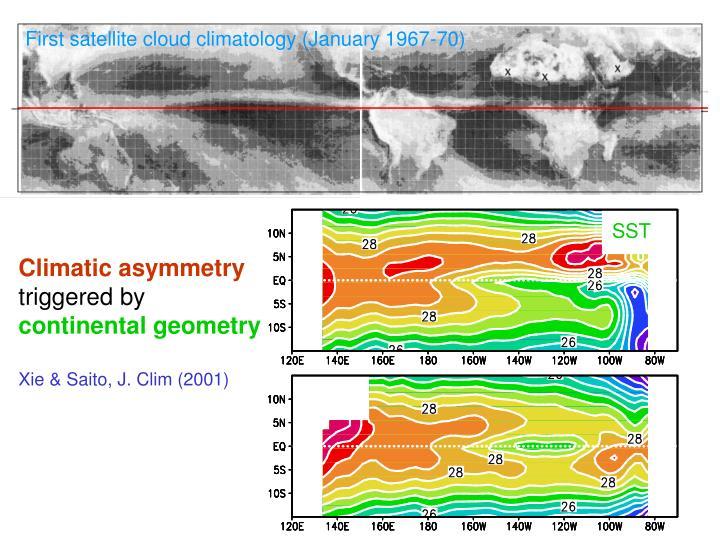First satellite cloud climatology (January 1967-70)