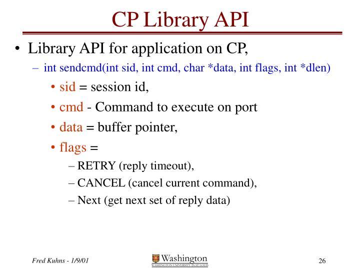 CP Library API