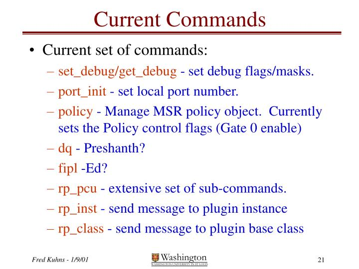 Current Commands