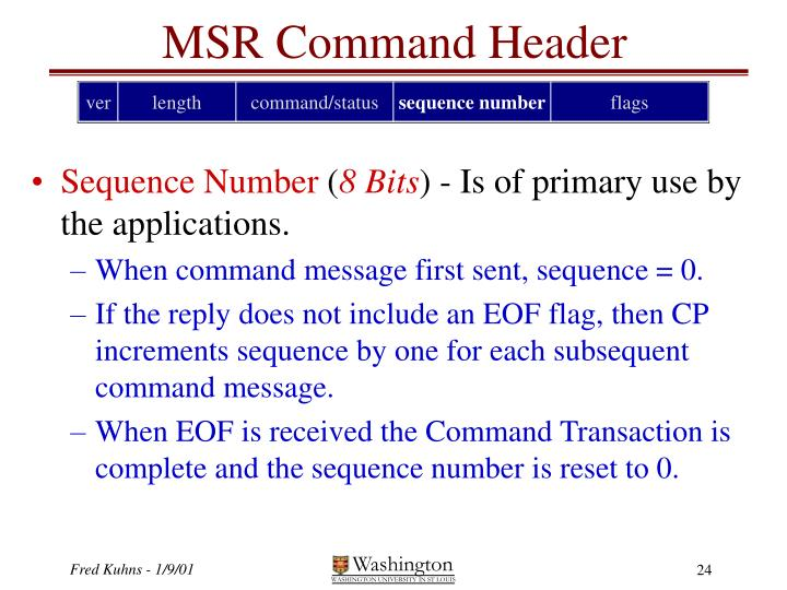 MSR Command Header