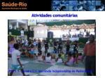 atividades comunit rias