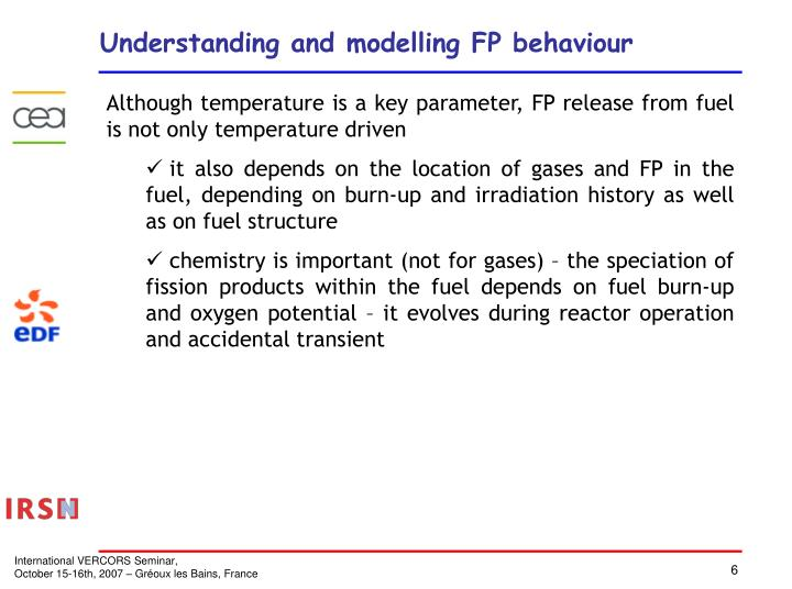 Understanding and modelling FP behaviour