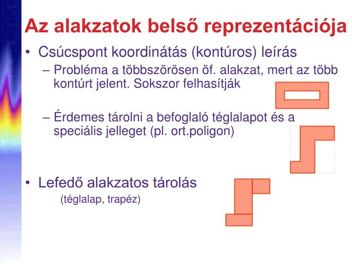 Az alakzatok belső reprezentációja