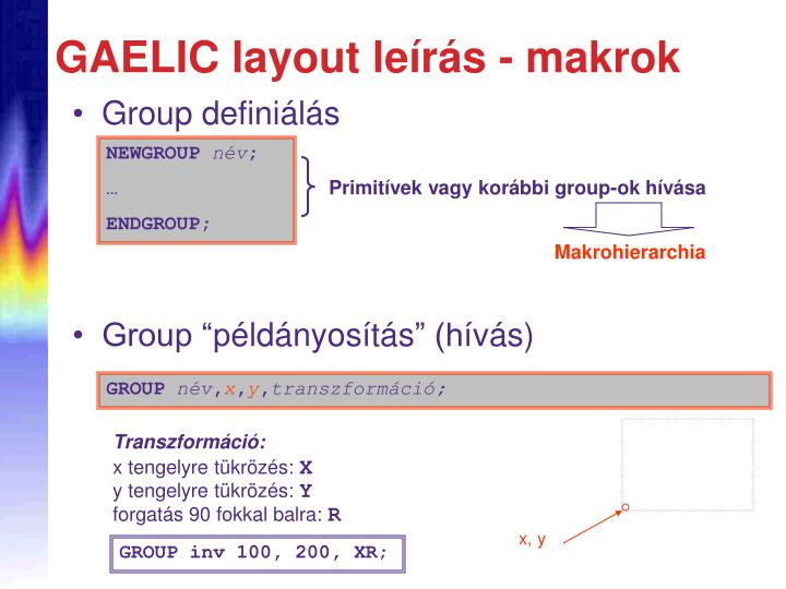 Group definiálás