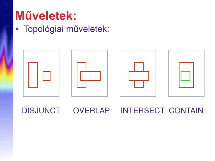 DISJUNCT      OVERLAP     INTERSECT  CONTAIN