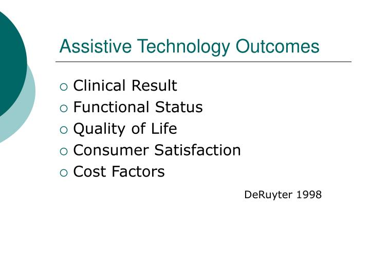 Assistive Technology Outcomes