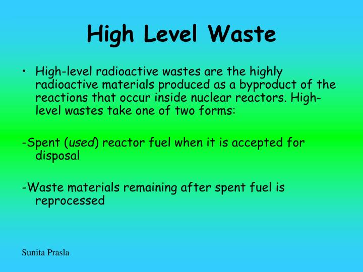 High Level Waste
