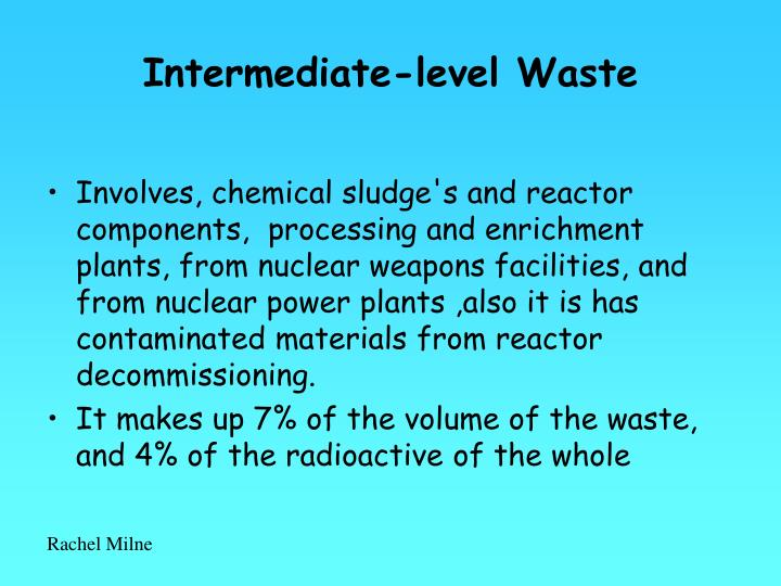 Intermediate-level Waste