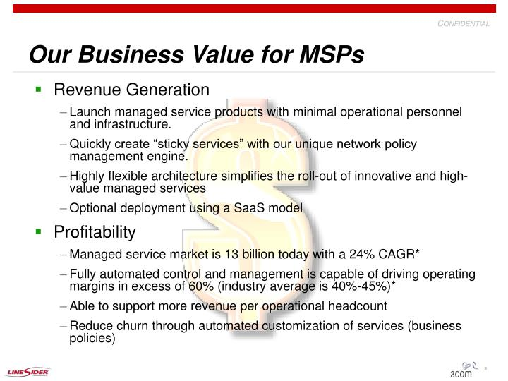 Our business value for msps