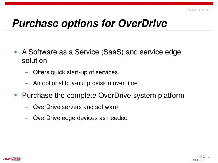 Purchase options for OverDrive