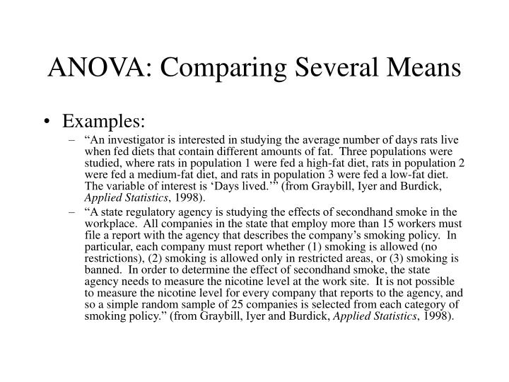 Anova comparing several means1