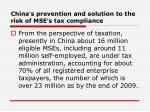 china s prevention and solution to the risk of mse s tax compliance3