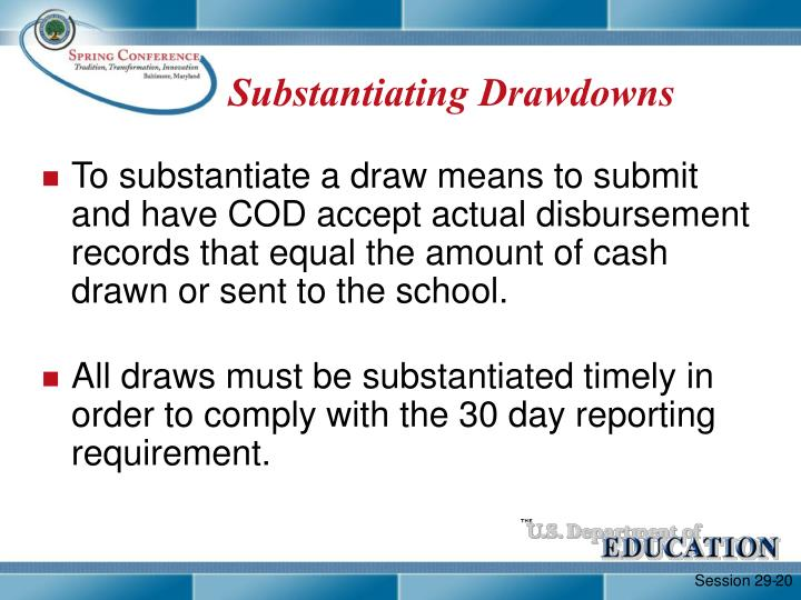 Substantiating Drawdowns