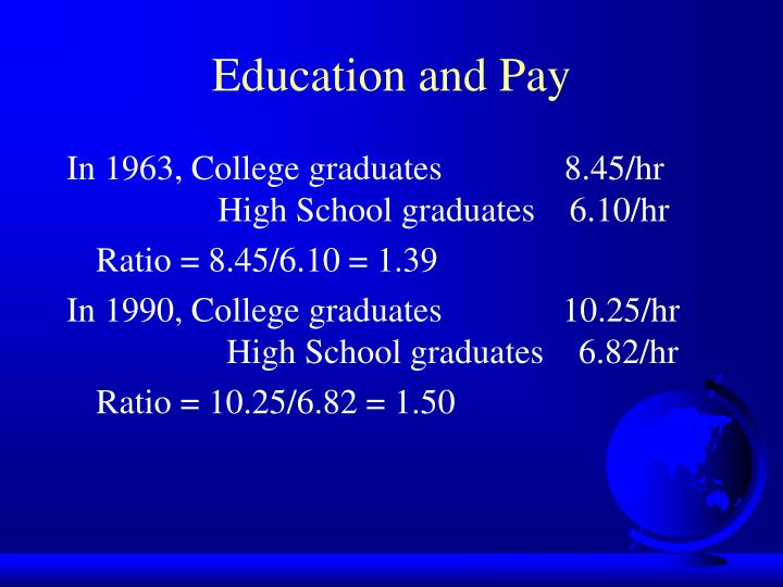 Education and Pay