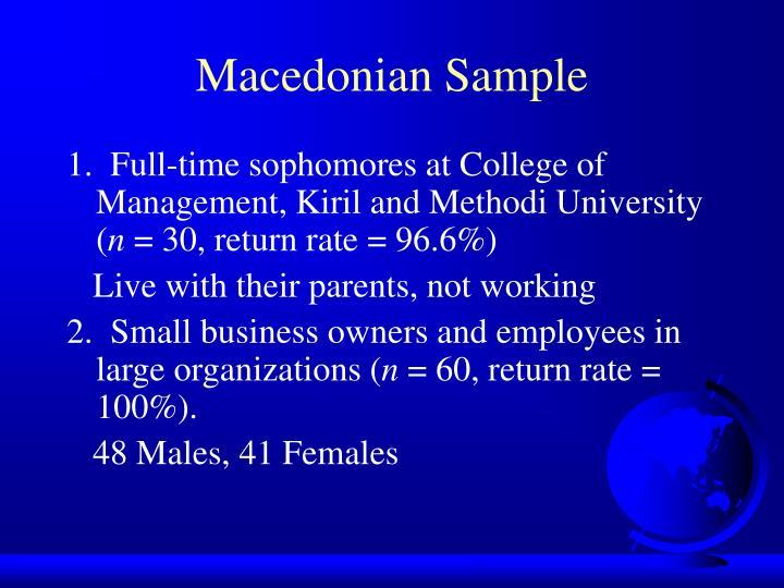 Macedonian Sample