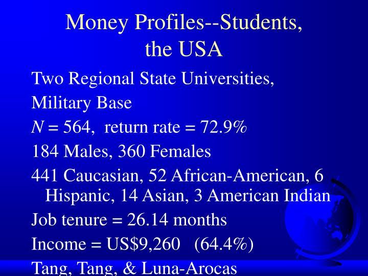 Money Profiles--Students,