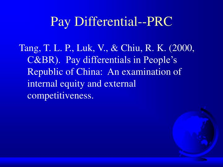 Pay Differential--PRC