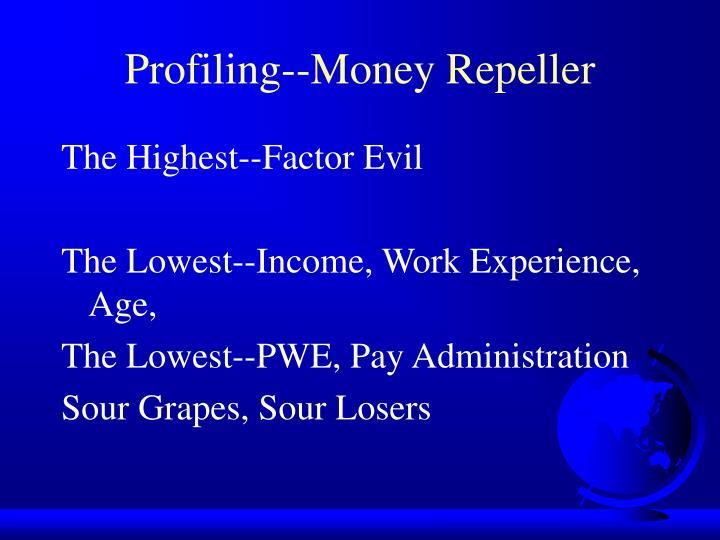 Profiling--Money Repeller